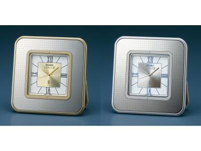 ギフトにもおすすめ、気品薫る小型の置時計 セイコー・エムブレムから新発売