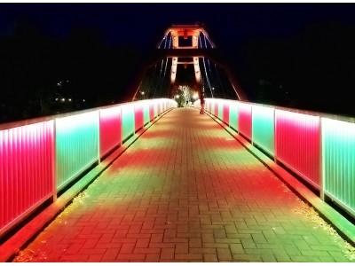 飯能市初!飯能河原のシンボル割岩橋1年で5日間だけ、限定クリスマスカラーにライトアップ