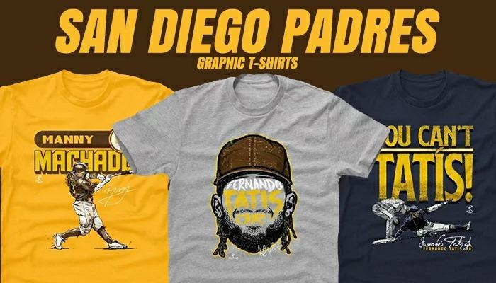 サンディエゴ パドレス Tシャツが予約開始!ダルビッシュ選手、フェルナンドタティスJr選手グッズモデルが充実!