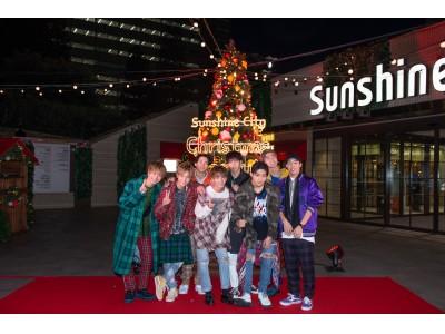 「夢のひとつが叶った!」シャボン玉に包まれて、Sunshine City ウェルカムツリーを点灯!Sunshine City Christmas Party!ツリー点灯式&クリスマススペシャルライブ