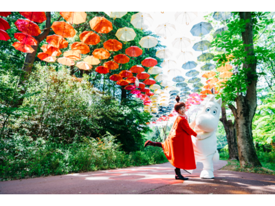 豊かな自然に包まれたムーミンバレーパークで日本最大級約1,200本の傘が広がる「ムーミン谷とアンブレラ」を春夏で開催!