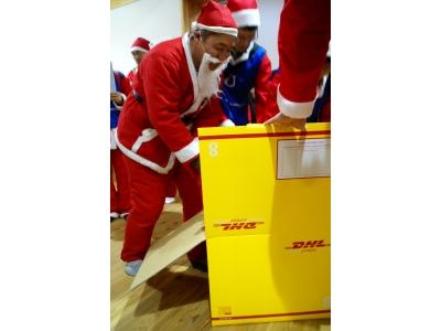 DHL、「サンタが100人やってきた!」を6年目となる今年もサポート