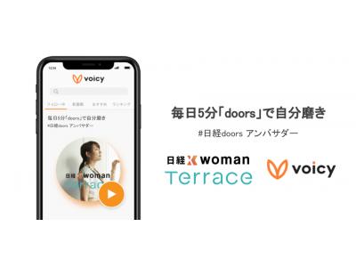「日経xwoman」とボイスメディア「Voicy」の共同企画で、『毎日5分「doors」で自分磨き』が放送開始 ~20・30代の働く女性のキャリア・ライフスタイル情報を耳からインプット~
