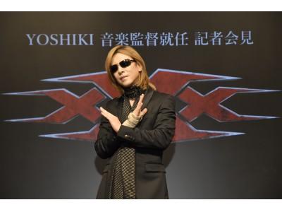 YOSHIKIトリプルX最新作「xXx 4」音楽監督就任の記者会見を開催、さらにTVシリーズのプロデューサー就任と、映画へのカメオ出演決定
