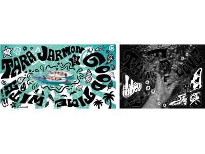 TARA JARMON とイラストレーターChocomooのコラボレーションTシャツ発売