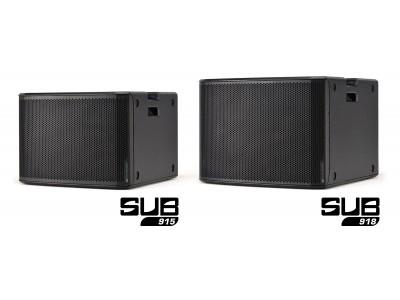 RDNet対応によりフルリモートコントロールが可能なアクティブサブウーハー『SUB 915』および『SUB 918』を新発売