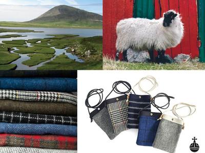 寒い日の装いに、手織物のぬくもりとあたたかさを。冬の定番「Harris Tweed(ハリスツイード)」の生地を使った、エシカルなミニバッグとルームシューズが登場。
