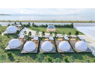 【2021年4月28日オープン】琵琶湖を間近に感じるグランピング施設‐グランドーム滋賀高島