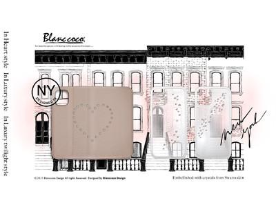 洗練された女性へ。ニューヨークの輝きを再現したスワロフスキー(R)・クリスタル使用のスマートフォンケース3種類をデザイン。KDDI社「au  1 collection」から新登場。Blanc coco