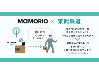 【東武鉄道】MAMORIO(マモリオ)を活用したお忘れ物自動通知サービスを13駅から120駅に拡大します!