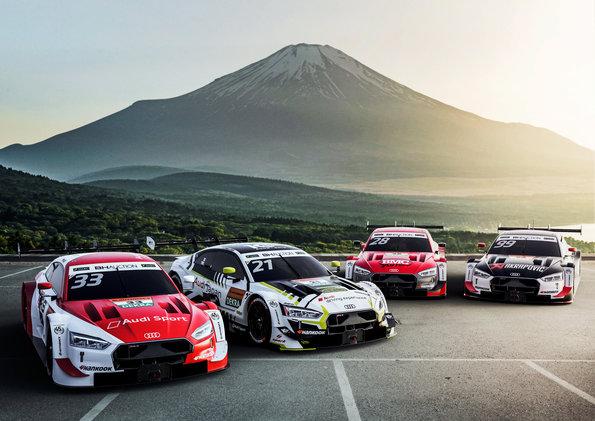 富士SUPER GT×DTM特別交流戦に4台のAudi RS 5 DTMが参戦