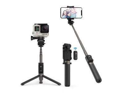 【TaoTronics】Bluetoothリモコン付きで、自撮り棒、GoProなどアクションカメラの固定、三脚の1台3役の「TT-ST002」を発売
