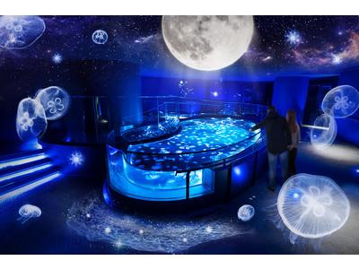 【すみだ水族館】7月に新登場したクラゲ水槽「ビッグシャーレ」の期間限定演出 冬企画「月とクラゲ」を11月20日(金)から開催