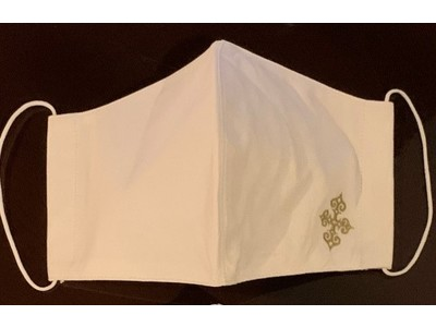【クロスホテル札幌】100枚限定、アイヌ文様の刺繍を施したホテルオリジナル フェアトレード認証のコットンを使用したマスクを販売