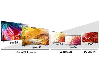 """進化した""""新基準""""の液晶テレビ「LG QNED MiniLED」を含む、液晶テレビ2021年ラインアップ全6シリーズ18モデルを5月下旬より順次発売"""