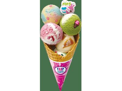 カラフルなアイスクリームで春をお祝い♪ 「イースター カラフル デコ」