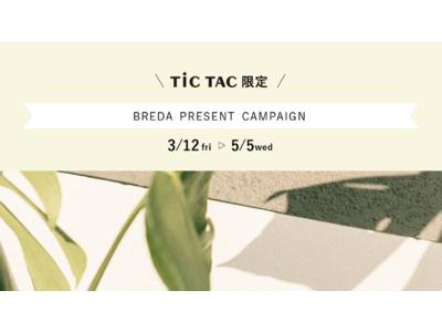 レディースウォッチブランド BREDA(ブレダ)から新商品が発売!全国のTiCTAC取扱店にて素敵なプレゼントが当たるプレゼントキャンペーン開催!