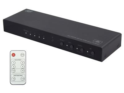 音声出力専用HDMIを搭載し音声分離機能を搭載した4K HDMIセレクターにDolby VisionやHLGへ対応した最新モデルを発売