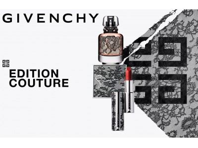 ジバンシィのデザイナーたちを虜にしてきたブラックレースがほどこされたラグジュアリーなメイクアップ&フレグランス コレクションが3月1日(日)より限定発売。
