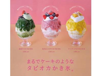 まるでケーキみたいな タピオカかき氷☆3種そろって登場☆大阪・梅田/中崎町「カラーズ」