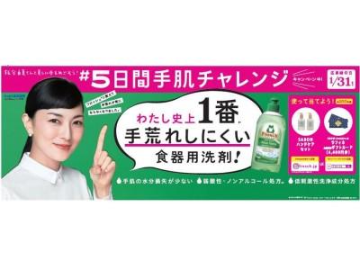 女優・板谷由夏さんをアンバサダーとして、フロッシュ(R) 【#5日間手肌チャレンジ】キャンペーンを展開。