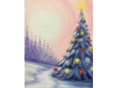 クリスマスシーズンにおすすめの体験イベント『クリスマスペイントパーティー』ワイン片手にツリーの絵を描いて持ち帰れる!