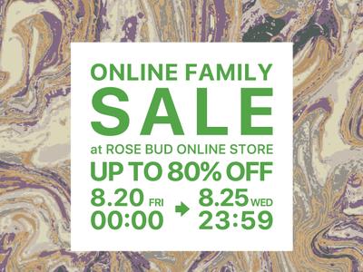 【ROSE BUD】ROSE BUD FAMILY SALE開催!オンラインストア限定で8/20(金)スタート