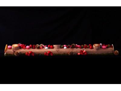 【徳島県・ルネッサンス リゾート ナルト】クリスマス先取り☆ 最大1.2m♪ 特製ブッシュドノエルを召し上がれ。真っ赤に華やぐ、Xmasフレンチビュッフェ