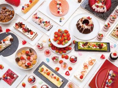 【びわ湖大津プリンスホテル】地上130mの「びわ湖の特等席」「いちごとショコラのパノラマスイーツブッフェ」を開催