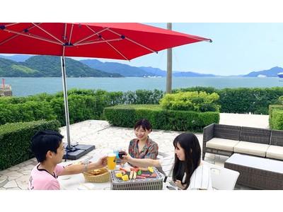 【グランドプリンスホテル広島】広島牛の食べ比べ等、秋のメニューにリニューアル!瀬戸内海を眺める屋外テラスで「リゾートバーベキュー」