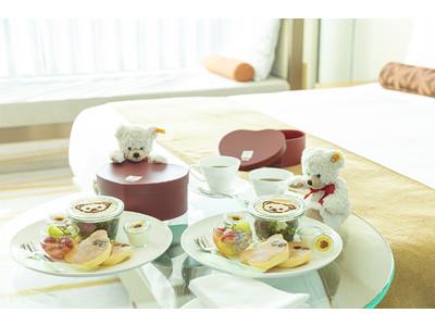 ザ・プリンスギャラリー 東京紀尾井町 テディベアと一緒にバレンタイン&ホワイトデーを過ごすおこもりスイーツプランを販売