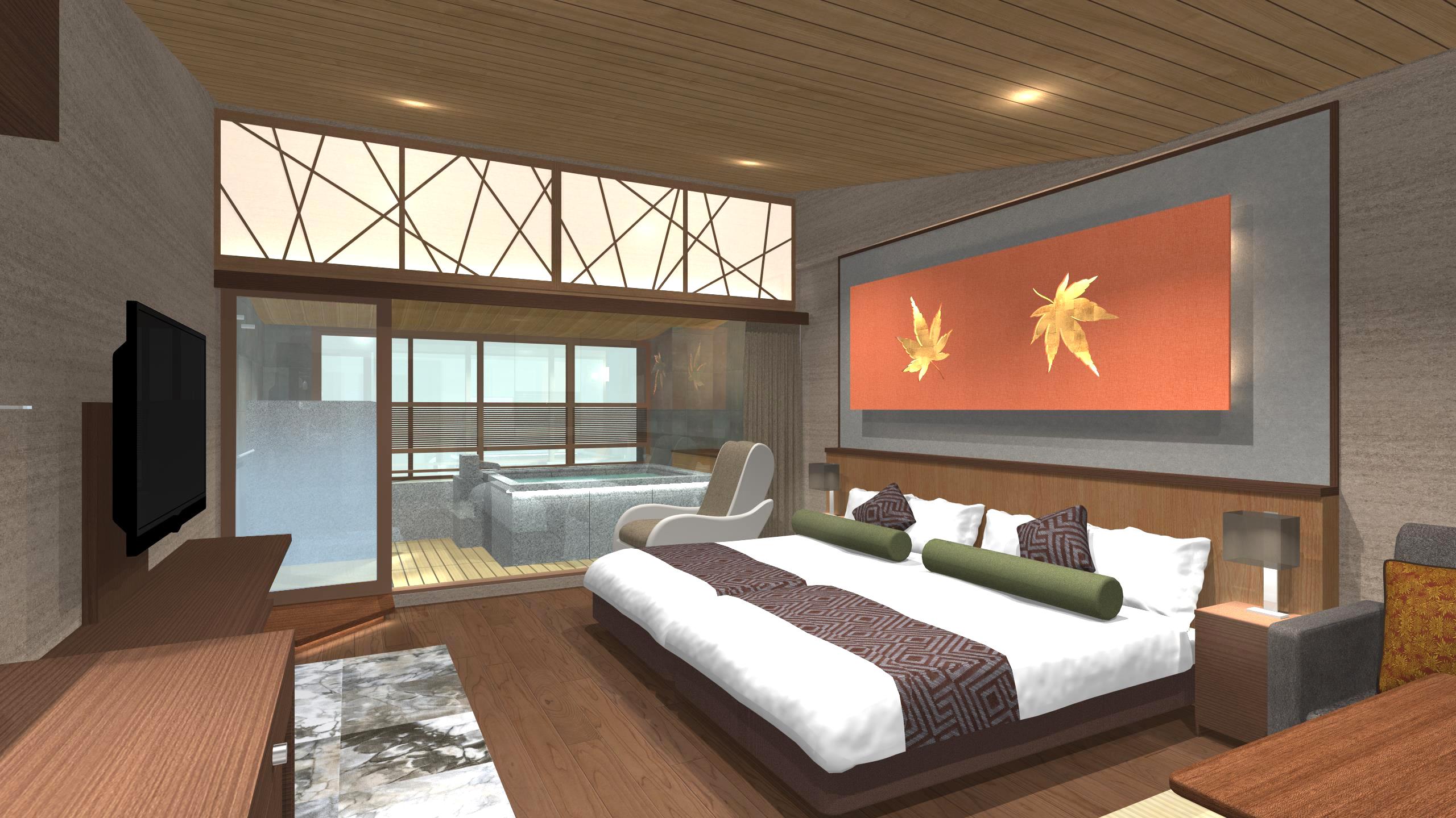 【世界遺産の島 宮島】新しい半露天温泉付き客室が誕生!老舗旅館 錦水館の挑戦。