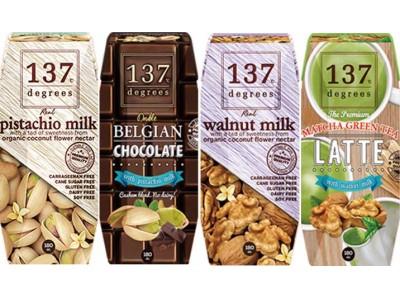 今話題のナッツミルクにピスタチオとウォールナッツが新登場!! チョコレートフレーバーや抹茶ラテも登場!~137ディグリーズ「ピスタチオミルク」「ウォールナッツミルク」シリーズ 4/25(火)発売~