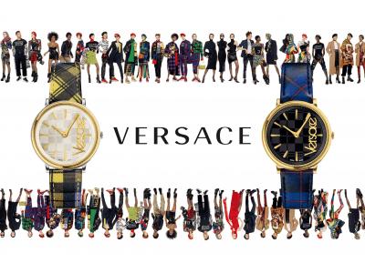 """ヴェルサーチェ ウォッチから、注目のファッショントレンド""""タータンチェック""""と""""80'sビッグロゴ""""をデザインした斬新な新作時計を10月12日(金)に発売!"""