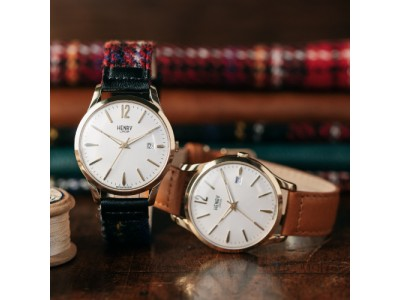 """英国の腕時計ブランド「ヘンリーロンドン」が、今注目の""""スコットランド""""発祥「ハリスツイード」と最強のイギリスコラボを発売"""