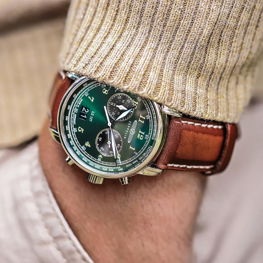 """ドイツの腕時計ブランド「ツェッペリン(ZEPPELIN)」から、話題の""""グリーンツェッペリン""""最新作が11月20日(水)に発売!"""