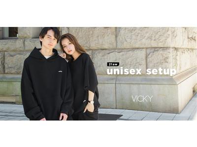 VICKY(ビッキー)からユニセックス アイテム『 VKHERE(ビクール)』が登場!