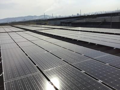 【サニックス】自社工場に完全自家消費型太陽光発電 5月11日 笠岡工場にて運転開始