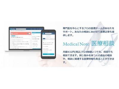 メディカルノート、メルカリ従業員向けに「オンライン医療相談サービス」を提供開始