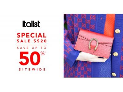 LA発ラグジュアリーファッション通販サイト「italist」、4月1日からサプライズセールを開始。2020春夏のコレクションがすべて最大50%OFF!