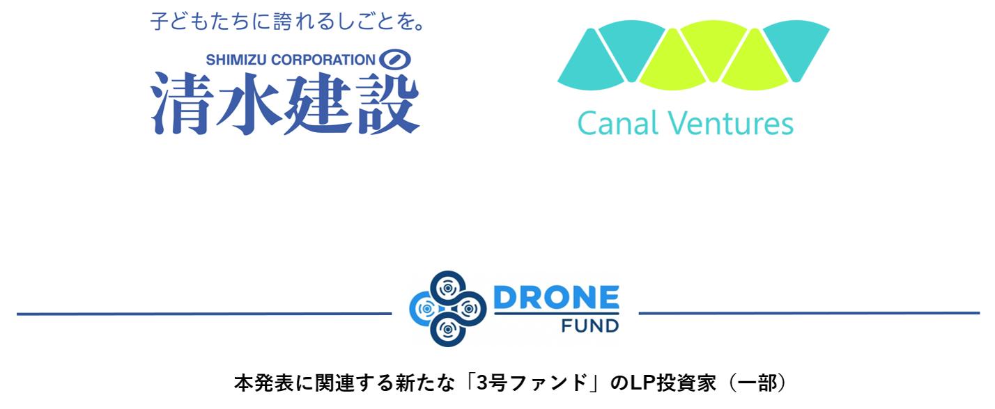 DRONE FUND、3号ファンドの追加調達を実施し、総額約50億円に ~清水建設、キャナルベンチャーズなどが参画~
