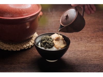 至高のひと啜り。キャビア一缶を贅沢に使用した玉露キャビア茶漬けを期間限定販売