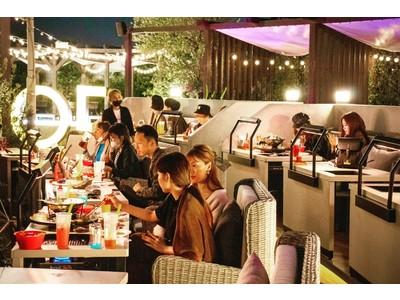日本で唯一の絶景オープンエアの2名専用BBQ空間で誕生日や記念日を肉デートでお祝い!7月19日(月)なんばパークス屋上の『ルーフトップBBQ&BAR』にアニバーサリーBBQコースが登場!!