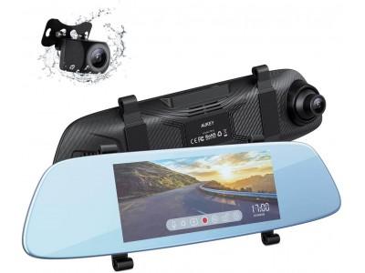 AUKEYタッチセンサー式のルームミラー型2カメドラレコDRA2第二世代が登場!駐車アシストなどの多機能をサポート♪