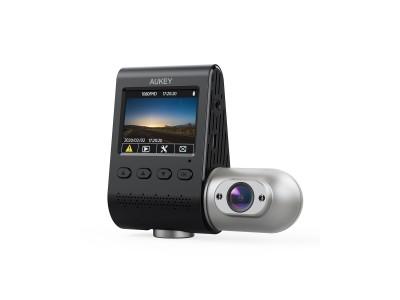 前後とも1080P録画&超強暗視機能を搭載のデュアルカメラ「AUKEY DRS2」が新発売♪