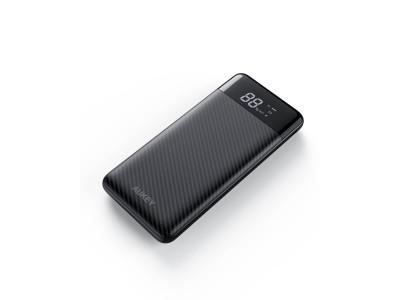 AUKEY 10000mAh大容量モバイルバッテリーPB-Y33新品発売♪美しさ、使い易さとも大きく向上し、PD3.0&QC3.0を両搭載で液晶LCD ディスプレイが付き!