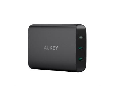PD3.0対応60W急速充電器「AUKEY PA-Y12」が40%オフ、3台同時にフルスピードで充電♪
