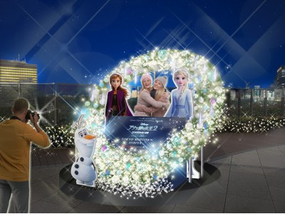 【東京ミッドタウン日比谷】アナと雪の女王最新作 『アナと雪の女王2』公開記念 東京ミッドタウン日比谷 6階パークビューガーデンにて「Snow Dance Christmas Wreath」を開催!