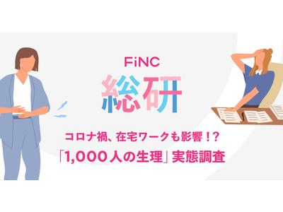 FiNC総研 「1,000人の生理」実態調査を公開!~コロナ禍、在宅ワークで変化あり!?「生理用品を見直すきっかけになった」という声も~