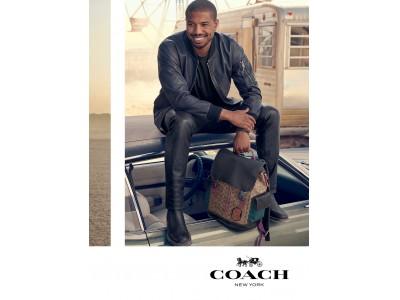 コーチ、Spring 2019 メンズ グローバル広告キャンペーンをローンチ。       マイケル・B・ジョーダンがコーチでの初の広告キャンペーンで、コーチ メンズのグローバルな